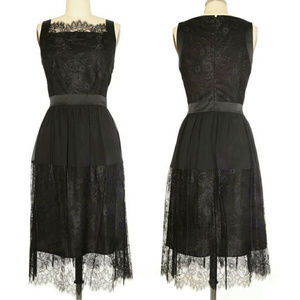 NEW Cynthia Steffe Aria Chantilly Lace Dress Black